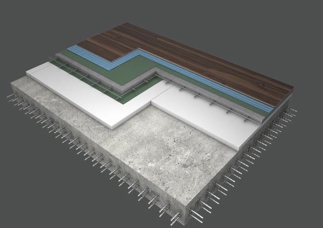 Skladba podlahy dektrade