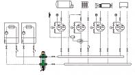 Ukázkové schéma připojení anuloidu CALEFFI