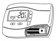 Prostorový bezdrátový snímač Radiocontrol F s digitálními hodinami - regulace podlahového topení