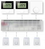 Digitální pokojový termostat Alpha DIRECT STANDARD s LCD displejem pro regulaci podlahového topení 230V