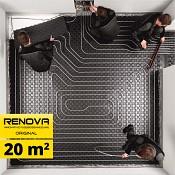 SET KOMPLET 20m2 RENOVA ORIGINAL podlahové topení se samolepem + 1x rozdělovač s čerpadlem