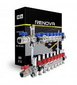 Rozdělovač RENOVA - NEREZ pro podlahové topení - 9 okruhů