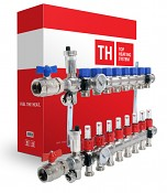 Rozdělovač Top heating ENGINE NEREZ pro podlahové topení - 5 okruhů