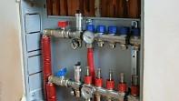 Chránička potrubí - umístění při napojení rozdělovače