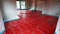 Podlahové topení svépomocí - instalace zákazník Zlín