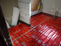 Podlahové topení svépomocí - instalace zákazník Třebíč