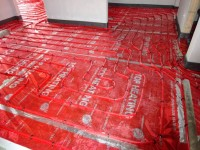 Podlahové topení svépomocí - instalace zákazník Chrudim