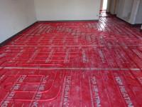 Podlahové topení svépomocí - instalace zákazník Šternberk