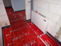 Podlahové topení svépomocí - instalace zákazník Zábřeh