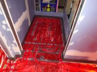 Podlahové topení svépomocí - instalace zákazník Telč