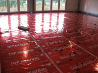 Podlahové topení svépomocí - instalace zákazník Rosice
