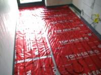 Podlahové topení svépomocí - instalace zákazník Chlumec nad Cidlinou