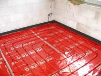 Podlahové topení svépomocí - instalace zákazník Střítež