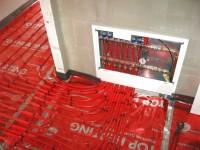 Podlahové topení svépomocí - instalace zákazník Mohelnice