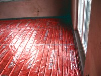 Podlahové topení svépomocí - instalace zákazník Vodňany