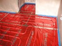 Podlahové topení svépomocí - instalace zákazník Fryšták