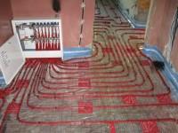Podlahové topení svépomocí - instalace zákazník Pardubice