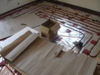 Podlahové topení svépomocí - instalace zákazník Ústí nad Labem