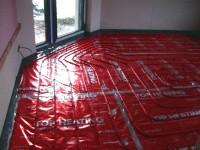 Podlahové topení svépomocí - instalace zákazník Jičín