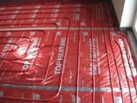 Podlahové topení svépomocí - instalace zákazník Blansko