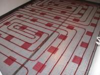 Podlahové topení svépomocí - instalace zákazník Vsetín