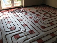 Podlahové topení svépomocí - instalace zákazník Dukovany