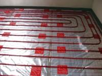 Podlahové topení svépomocí - instalace zákazník Pelhřimov