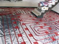 Podlahové topení svépomocí - instalace zákazník Uničov