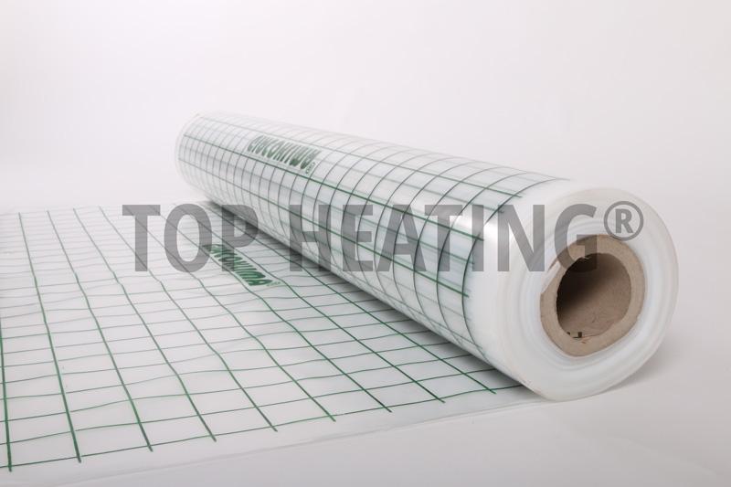 Polyetylénová fólie pro podlahové topení.