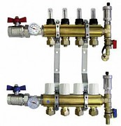 Termoregulační rozdělovače podlahového topení - 5 okruhů