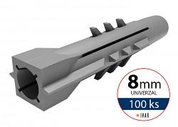 IVAR - QUATRO EDGE Hmoždinka univerzální QE 8 mm - 100 ks