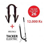 Příchytka TACKER ELEKTRIC 26 pro podlahové topení 12000 ks + přístroj TACKER
