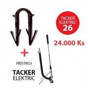 Příchytka TACKER ELEKTRIC 26 pro podlahové topení 24000 ks + přístroj TACKER