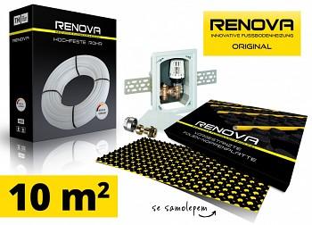 SET KOMPLET 10m2 RENOVA ORIGINAL podlahové topení se samolepem + 1x omezovač