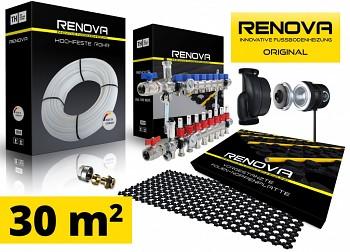 SET KOMPLET 30m2 RENOVA ORIGINAL podlahové topení + 1x rozdělovač s čerpadlem